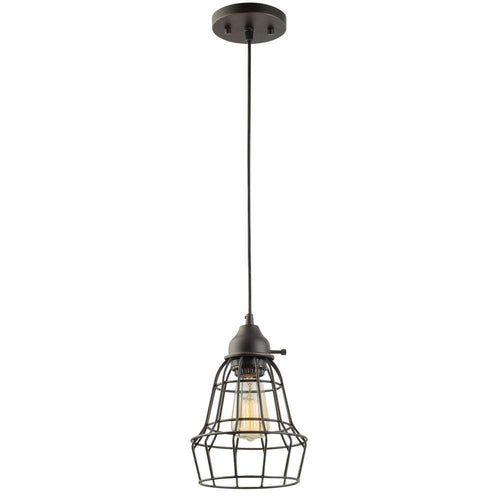 Globe Electric Vintage Pendant Light Black