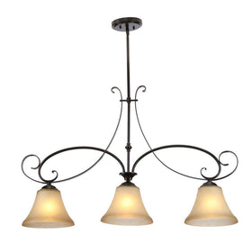 Hampton Bay Essex 3-Light Island Fixture Aged Black
