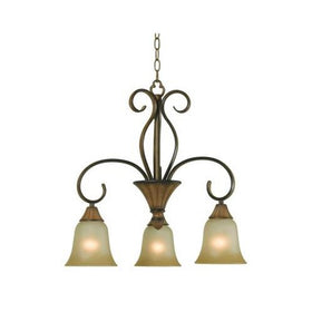 Hampton Bay Chester 3-Light Chandelier Aruba Teak-OB