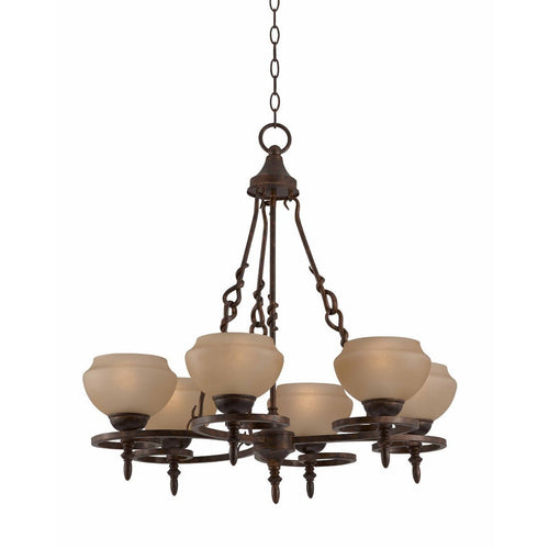 Triarch International Gibson 6-Light Chandelier English Bronze