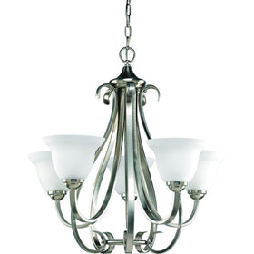 Progress Lighting Torino 5-Light Chandelier Brushed Nickel-OB