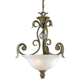 Triarch International Stephano 3-Light Pendant Camel Beige Antiqued Gold