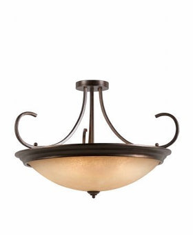 Triarch International Lacosta 10-Light Semi-Flush Ceiling Fixture English Bronze