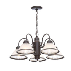 Commercial Electric 5-Light Chandelier Oil Rubbed Bronze - OB