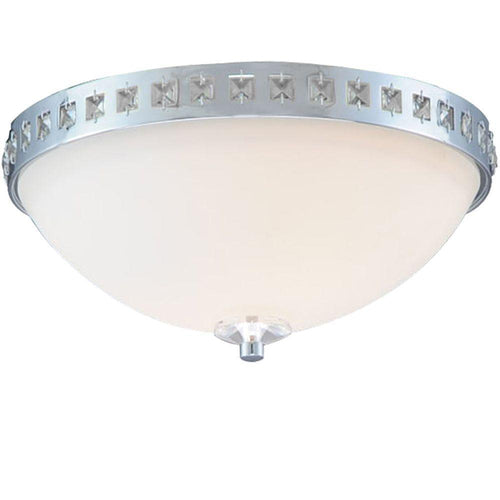Hampton Bay Wilikies Flush Mount Fixture Chrome-OB