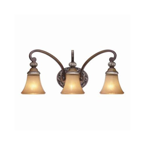 Hampton Bay Caffe Patina 3-Light Vanity Fixture