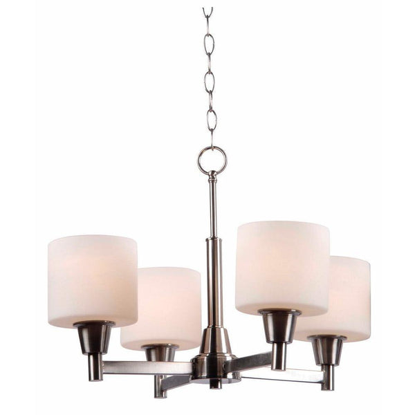 Hampton Bay Oron 4-Light Chandelier Fixture Brushed Nickel-OB