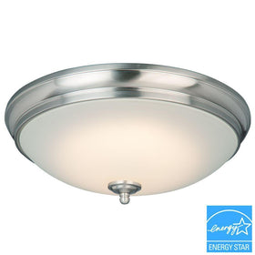 Commercial Electric LED 23-120watt Flushmount Ceiling Light Brushed Nickel-OB