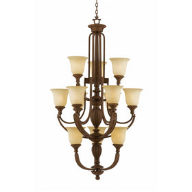 Triarch International Ambassador 12-Light Chandelier Fixture Morocan Bronze