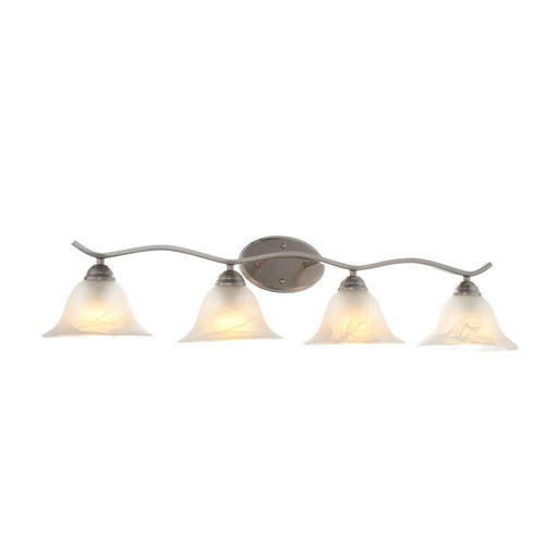 Hampton Bay Andenne 4-Light Vanity Fixture Brushed Nickel-OB