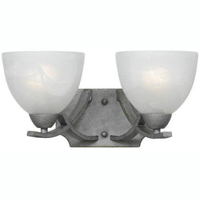 Triarch International Value 280 Vanity Wall 2-Light Fixture Old Silver