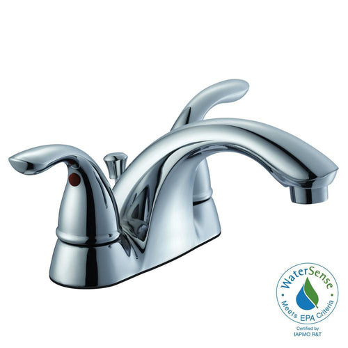 Glacier Bay Builders Grade 2 Handle Bath Faucet Chrome-OB