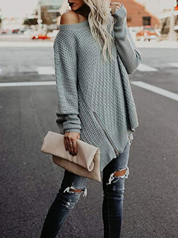 Fashion Female Loose Pullover Sweater - BelleChloe
