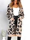 Leopard Printed Sweater Long Cardigan - BelleChloe