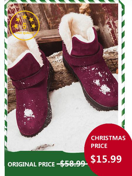 【Big Sale!】 [Quality] Waterproof  Spuer Soft  Snow Boots Fur Plush Insole Ankle Boots