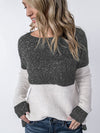 New Collection Velvet Thickening Fleece Colorblock Pullover-Sweaters-BelleChloe