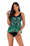 PLUS SIZE PRINTED TANKINI