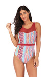 SLV LATTICE ONE-PIECE SWIMSUIT