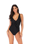 Chest Length Lace Up Sexy One Piece Swimsuit