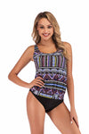 SLV WOVEN FABRIC PATTERN PRINT SWIMWEAR - BelleChloe