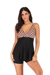 slv plus size push up striped swimwear - BelleChloe