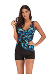 Plus Size Belted Swimwear