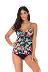 slv tie at waist tankini set