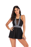 SLV BLACK SKIRT TANKINI SET