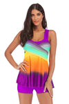 SLV  CRISS-CROSS RAINBOW TANKINIS - BelleChloe