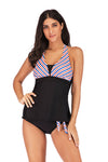 slv tie at waist tankini set - BelleChloe