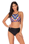 Soild Color Triangle Biniki Set Summer Push-Up