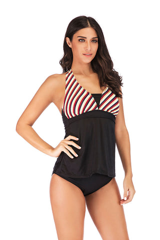 black Skirted tankini set