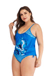 BUTTERFLY BLUE TANKINI SET - BelleChloe