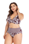 SLV PLUS SIZE HIGH WAIST BIKINIS PLUS SIZE - BelleChloe