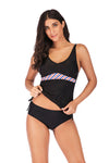 slv push up striped swimwear