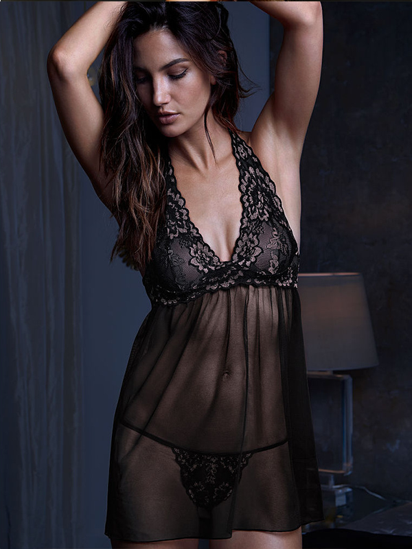 Women Lace Babydoll Strap V-Neck Nightwear - BelleChloe