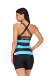SLV  BRIGHT STRIPE RACERBACK SWIMSUIT SET