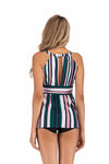 SLV STRIPE PRINT CUTE TANKINI SET - BelleChloe