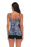 SLV  BLUE TIGER STRIPES TANKINI SET - BelleChloe