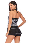 SLV BLACK SKIRT TANKINI SET - BelleChloe