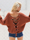 Irregular Buttons Ruffle Collar Cute Pullover Sweater