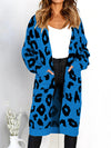Leopard Printed Sweater Long Cardigan-Cardigans-BelleChloe