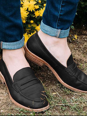 Casual Daily Chunky Heel Shoes - BelleChloe