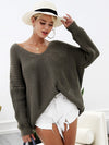 Sexy Backless Knitting Pllover Lace Up Sweater-Sweaters-BelleChloe