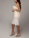 Women Bodycon Transparent Midi Dress - BelleChloe