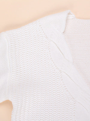 Knit Sexy Long Sleeve Off Shoulder Pullover Sweater - BelleChloe