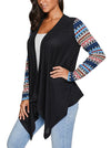 Casual Irregular Patchwork Long Sleeves Lightweight Cardigan - BelleChloe