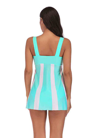 SLV  VERTICAL STRIPES SWIMSUIT