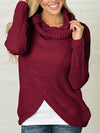 Turtleneck Oversized Long Sleeve Knitted Pullover Sweater