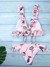Pink Push-Up Padded Bikini Swimsuit - BelleChloe